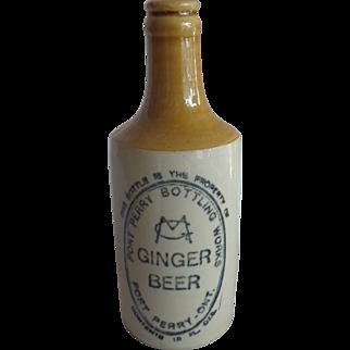 Port Perry Bottling Works Ginger Beer Bottle Canada