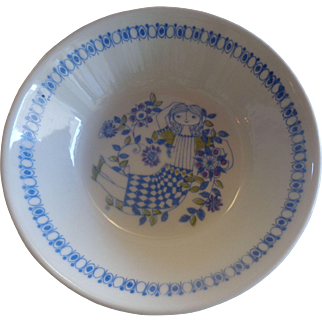 Figgjo Lotte Norway Cereal Bowls Lady