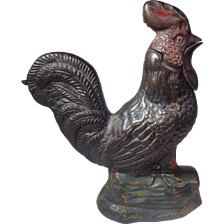 Crowing Rooster Mechanical Bank Kyser & Rex USA 1880s
