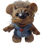 Thomas Dam Mice Mouse Troll With Whiskers Blue Outfit