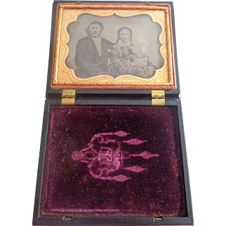 Quarter-Plate Ambrotype Family Roger DeCoverly & the Gypsies Fortune Thermoplastic Case