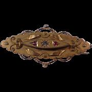 Edwardian 9K Gold Brooch 1907 Chester JF