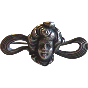 Sterling Art Nouveau Pin Brooch D.S. Spaulding Co  Lady Free Shipping