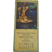 1924 Calendar Indian Princess Print Neoga South Wind