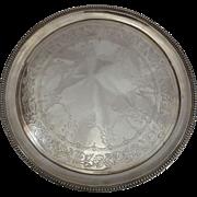Sterling Silver Serving Tray 1864 London E & J Barnard 660 G