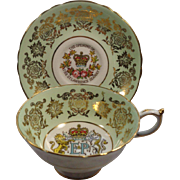Paragon 1959 Queen Elizabeth St Lawrence Seaway Commemorative Cup & Saucer