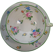 Mintons England Cup Saucer Floral Bouquets Green Trim