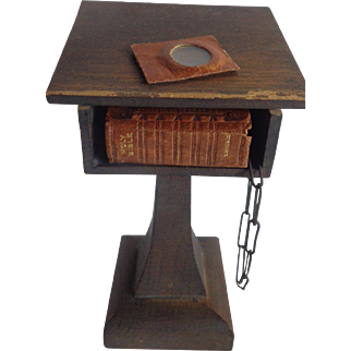 Miniature Bible with Stand D. Bryce Glasgow 1901 Magnifying Glass