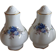 Royal Albert Moonlight Rose England Salt and Pepper Never Used 5 & 9 Hole