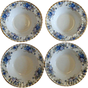 4 Royal Albert Moonlight Rose England Rimmed Soup Bowls