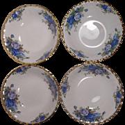 4 Royal Albert Moonlight Rose England Fruit Bowls