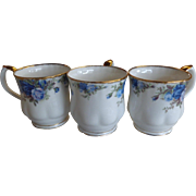 3 Royal Albert Moonlight Rose England Montrose Coffee Mugs