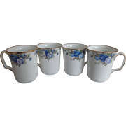 4 Royal Albert Moonlight Rose England Bristol Beaker Coffee Mugs