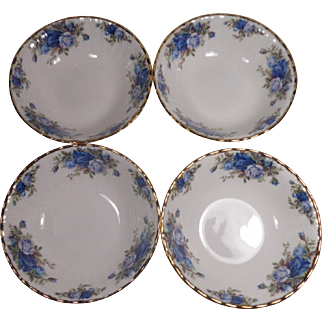 4 Royal Albert Moonlight Rose England Soup Cereal Bowls Unused