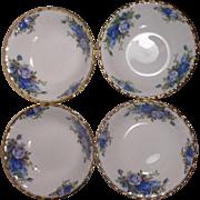 4 Royal Albert Moonlight Rose England Fruit Bowls Unused