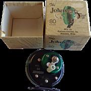 Vintage The Johnson Model 80 Reel in Box