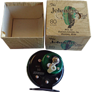 Vintage The Johnson Model 80 Reel in Box