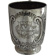 Sterling Silver Christening Cup 1896 Sheffield James Deakin & Sons