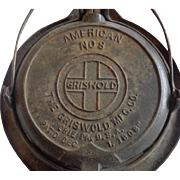 Griswold Clows American #8 Waffle Iron Dec 1 1908
