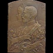 King George Coronation Mary Hotel Victoria London 22 June 1911 Bronze Plaquette