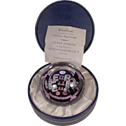 Whitefriars 1977 Paperweight Queen Silver Jubilee Millefiori #2