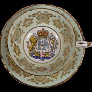 Paragon Cup & Saucer Queen Elizabeth St. Lawrence Seaway