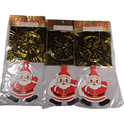 3 Packs Multi-Colour Foil Garland with Santa