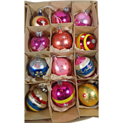 Mixed Box of Glass Christmas Ornaments