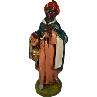 Fontanini Large Nativity Figure Wise Man Paper Mache Italy