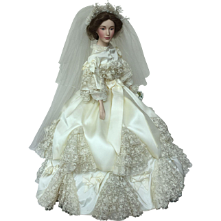 An exceptional, vintage bride doll