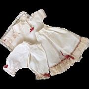 Early french poupée, handmade underwear set