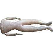 19th Century, pink leather doll body