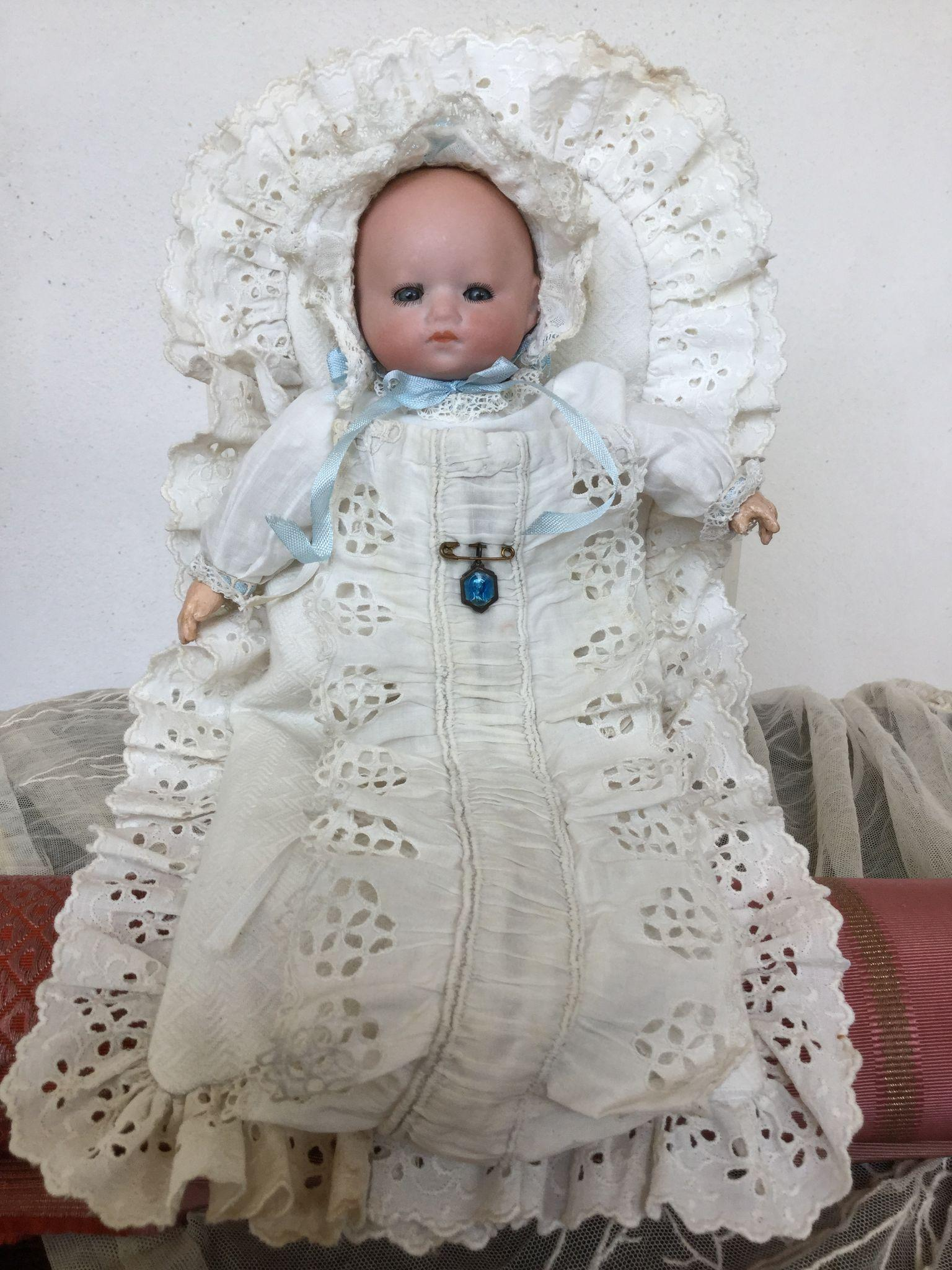 Fantastic Bisque Tiny Baby Doll All Original Condition