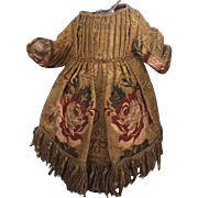antique, 19th Century, brocade dress