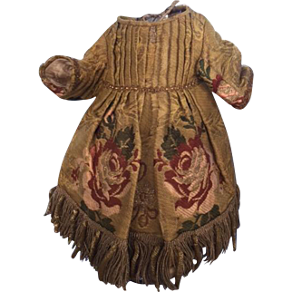 antique, 19th Century, brocade dress