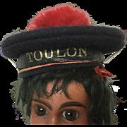 French woolen sailor doll hat, size 1 'Toulon'
