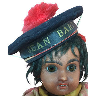 French woolen, sailor doll hat, size 1 'Jean Bart'