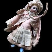 "French ""Lilliputian"" tiny all bisque Mignonette, factory original !"