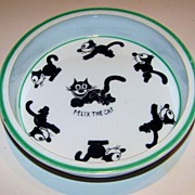 "Scarce Royal Rudolstadt 1925 ""Felix The Cat"" 7-1/4"" Baby Plate"