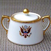 "Scarce Vintage T & V Limoges 1900's White House Presidential China 2-7/8"" Sugar from the Washington DC National Remembrance Shop"