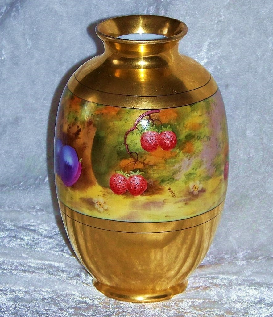 "Superb & Outstanding Pickard Studio of Chicago 1918 Hand Painted ""Deserted Garden"" 7-1/4"" Vase by the Well Known Listed Artist, ""Curtis Marker"""
