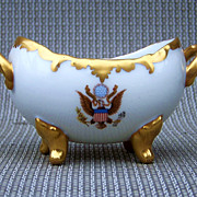 "T & V Limoges 1900's White House Presidential China 2-7/8"" Footed Open Sugar from the Washington DC National Remembrance Shop"