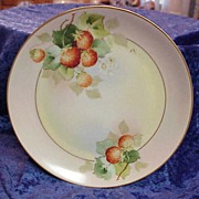 "Vintage Pickard HP ""Strawberries"" 7-5/8"" Plate by ""Paul Gasper"""