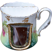 Gorgeous RS Prussia 1900's Snowball & Roses Scarce Mirrored Shaving Mug