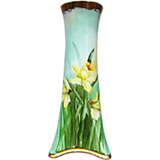"H & Co. Selb Bavaria 1900's Hand Painted ""Yellow Dafodills"" 10-1/2"" Vase by the Artist, ""S. Knight"" - Red Tag Sale Item"