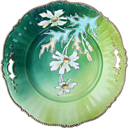 "Attractive RS Prussia [Royal Coburg] 1900's Hand Painted ""Daisies""11-3/8"" Open Handle Plate"