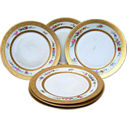 "Gorgeous Rosenthal Selb Bavaria & Pickard Studio of Chicago 1930 Set of 6 ""Wild Flowers"" Lunch Plates by Listed Artist, ""Maxwell Rean Klipphahn"""
