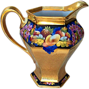 "Fabulous 1919 B & Co. Limoges France & Pickard Studio of Chicago 1919 Colorful ""Encrusted Fruits"" Tall 8-5/8"" Cider Pitcher by the Listed Artist, ""Maxwell Rean Klipphahn"""