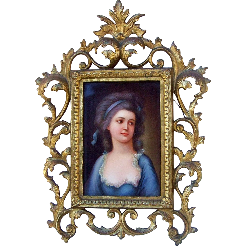 "Royal Vienna Exquisite 19th Century Hand Painted Portrait of ""Countess Potocka"", 12"" x 9"" Plaque, Artist Signed"