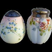 "Gorgeous Mt. Washington Smith Bros. Hand Painted 1880's Egg Shape Enameled Flowers 4-1/2"" Sugar Shaker Muffineer"
